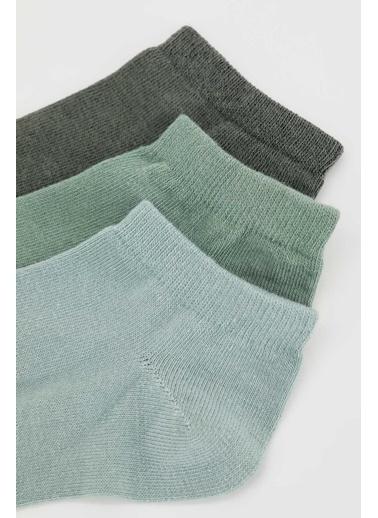 DeFacto 3'lü Çorap Yeşil